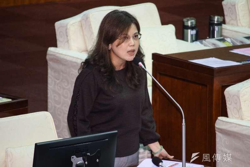 20201106-北市議員游淑慧出席市議會第9次會議質詢。(蔡親傑攝)