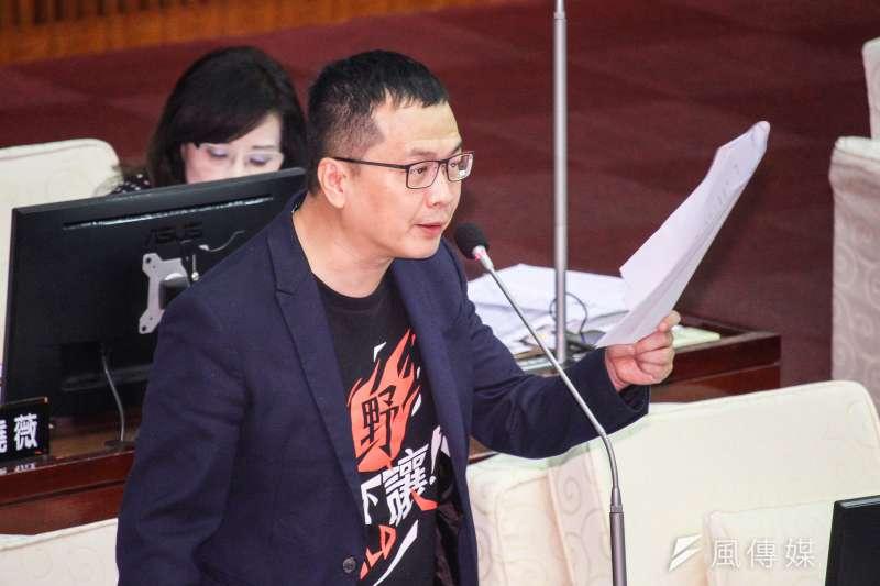 民進黨立委鄭運鵬批評台北市議員羅智強(見圖)在臉書仇恨動員。(資料照,蔡親傑攝)