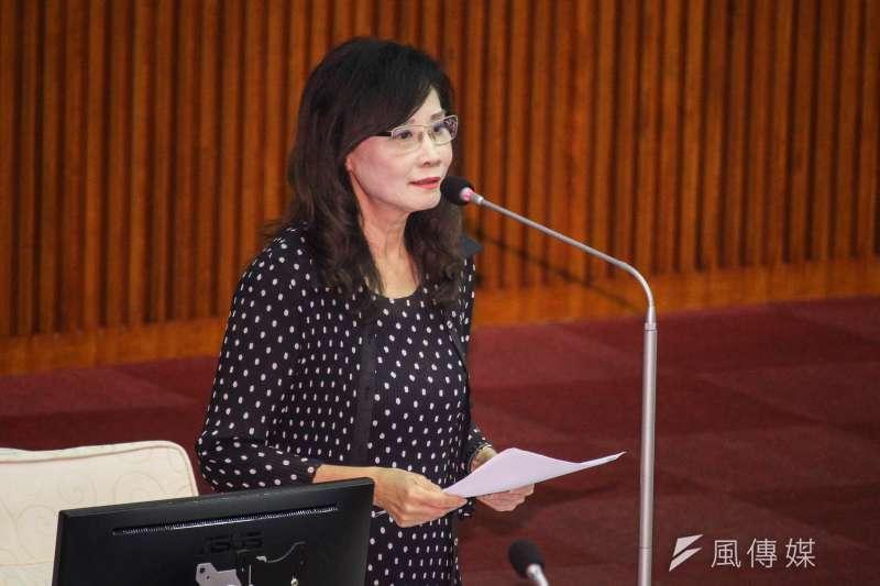 20201106-北市議員秦慧珠出席市議會第9次會議質詢。(蔡親傑攝)