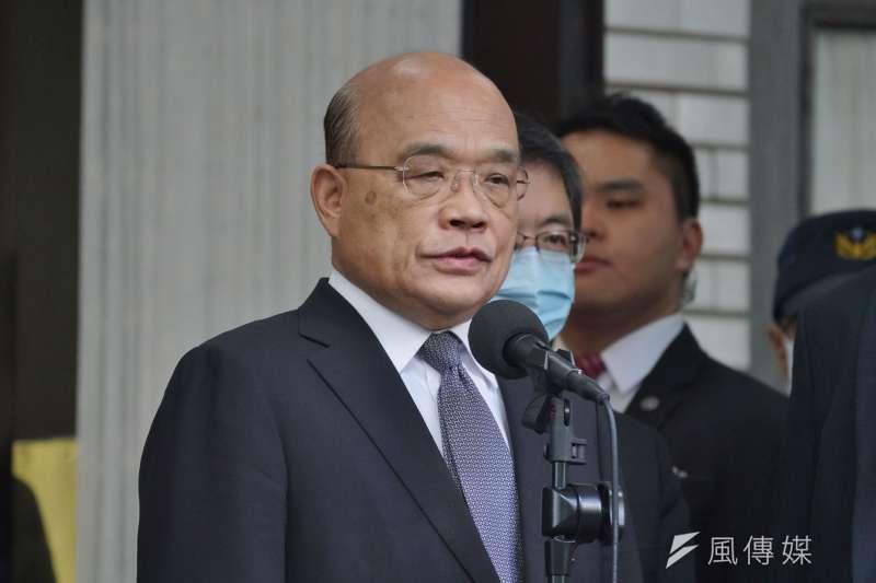 行政院長蘇貞昌為牛肉麵致歉,卻遭粉專砲轟沒誠意又沒處理,是「大街打人小巷道歉」。(資料照,盧逸峰攝)