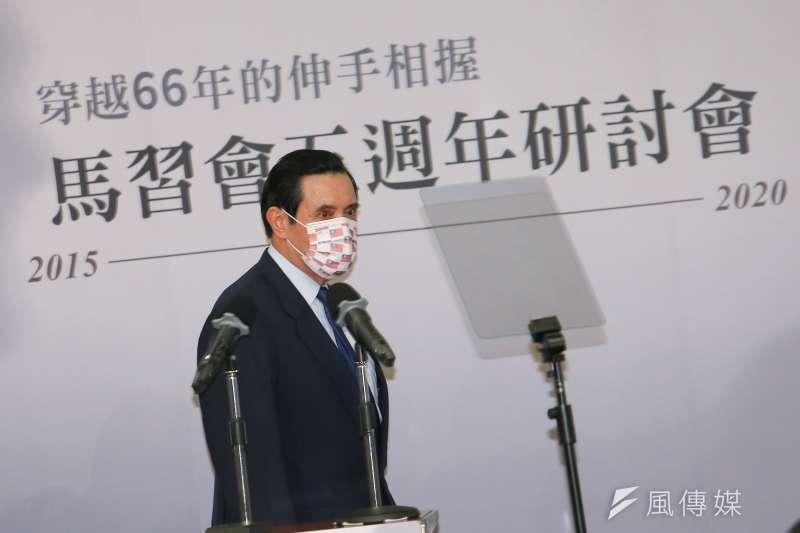 民進黨對前總統馬英九(見圖)喊話,希望馬正視現實,不要再沉溺於「九二共識等同兩岸和平」的幻覺裡。(顏麟宇攝)