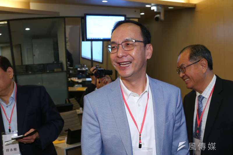 前國民黨主席朱立倫15日下午在臉書PO出一張麻將照,弦外之音引發討論。(資料照,顏麟宇攝)