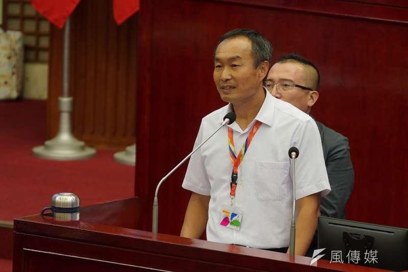 20201110-台北市體育局長李再立10日出席市政總質詢。(盧逸峰攝)