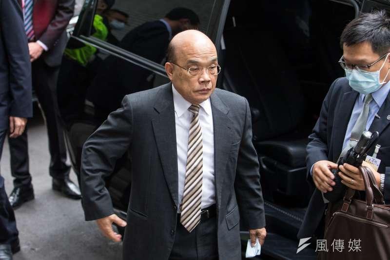 行政院長蘇貞昌12日出席行政院院會。(資料照,顏麟宇攝)