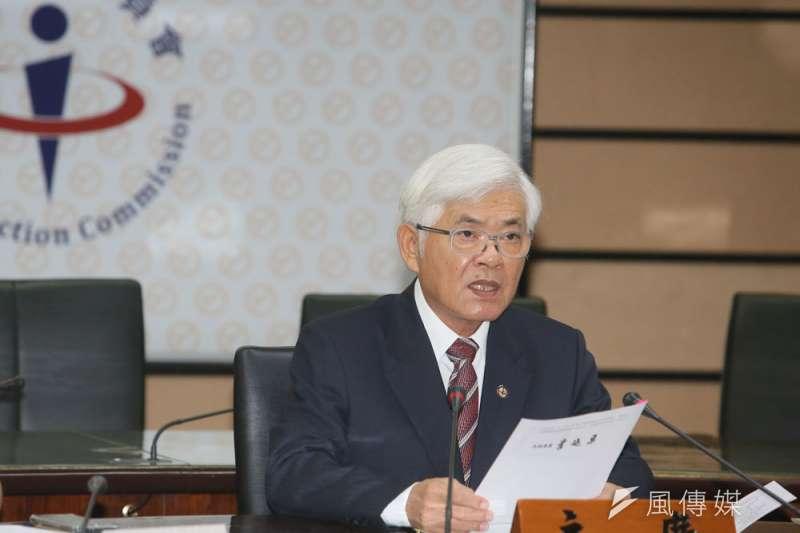 李進勇帶領的中選會,8月將《公民投票不在籍投票法》草案送至行政院。(柯承惠攝)