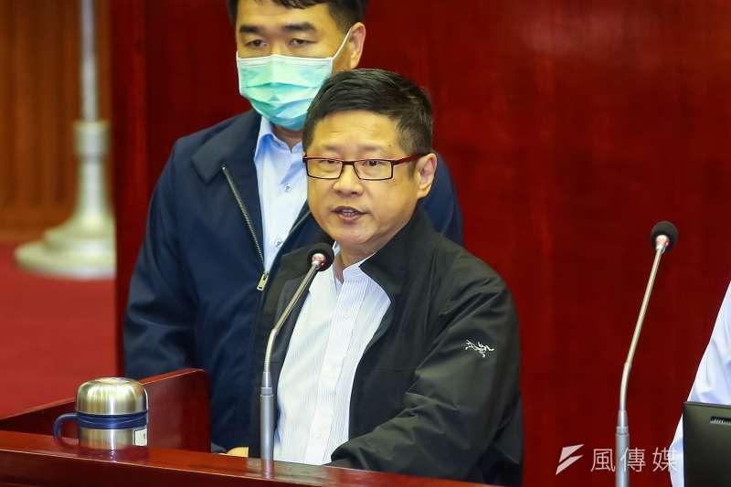 20201112-台北市產發局長林崇傑12日於市議會備詢。(顏麟宇攝)