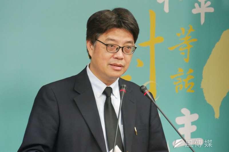 20201112-陸委會發言人邱垂正。(潘維庭攝)