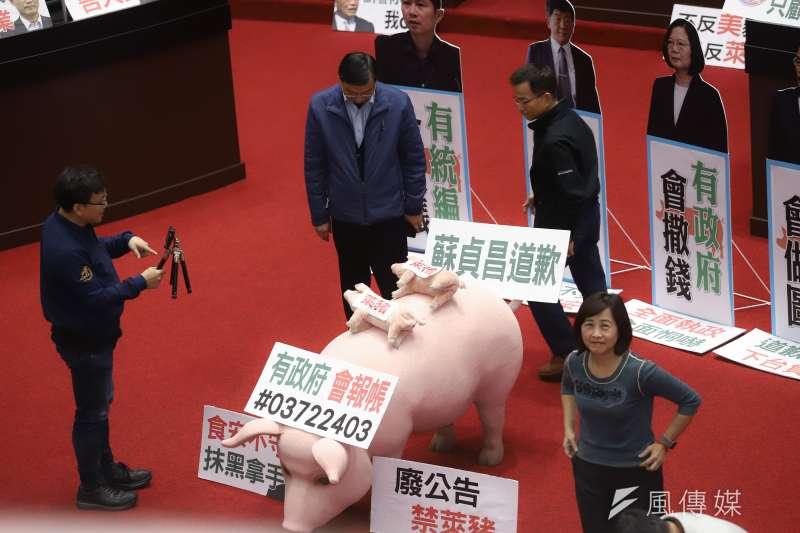 立法院18日下午的朝野朝商,預計24日處理萊豬開放的行政命令等11案,平安夜將上演「美豬表決戰」。(資料照,陳品佑攝)