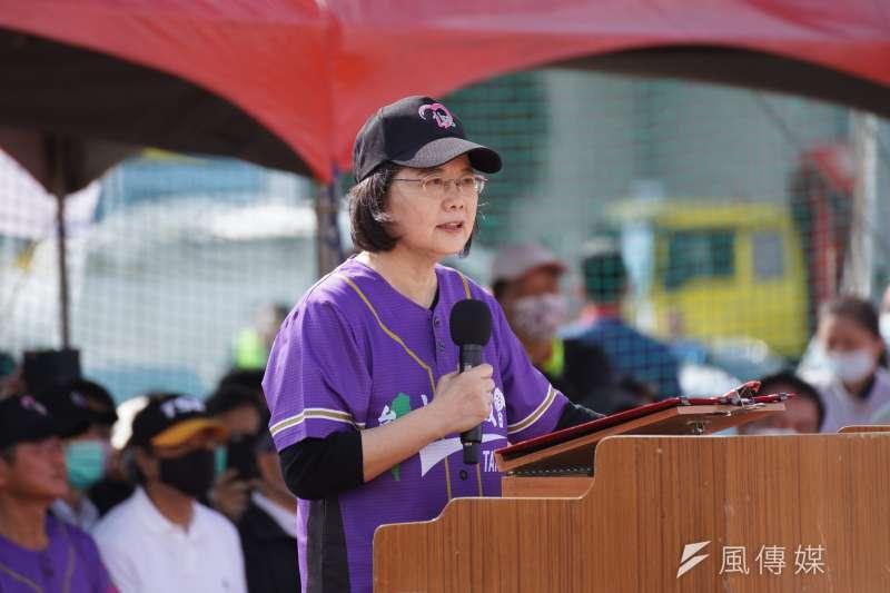 對RCEP對台灣的衝擊,蔡英文說政府已超前部署。(盧逸峰攝)