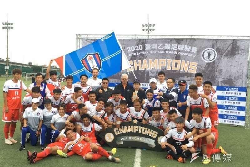 台灣中油足球隊完封比賽,晉級明年企業甲組八強聯賽。(圖/徐炳文攝)