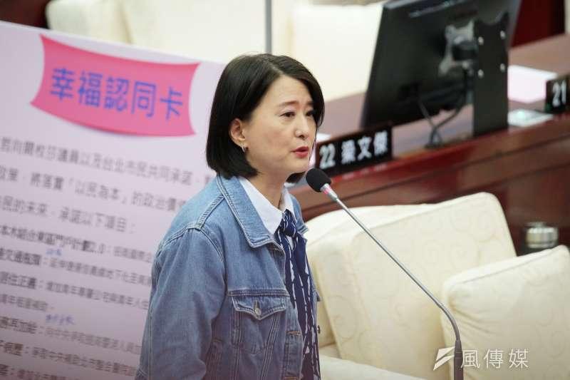台北市議員王鴻薇今(11)日公布藍綠政黨支持度民調,並表示兩黨支持度首次迎來死亡交叉。(資料照,盧逸峰攝)