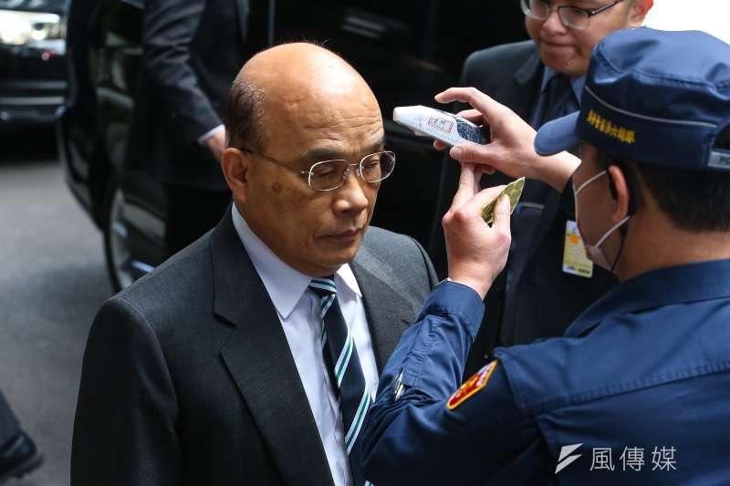 國民黨立委持續杯葛,行政院長蘇貞昌17日赴立院仍無法上台報告。(顏麟宇攝)