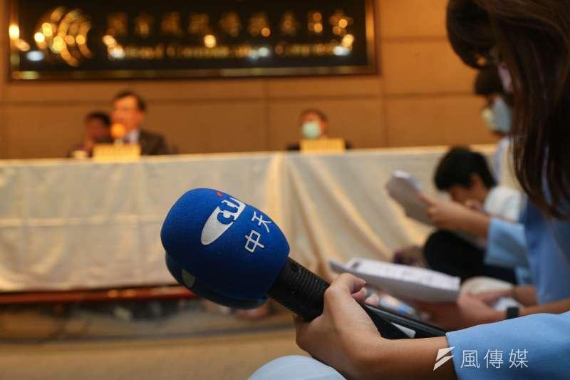 NCC主委陳耀祥就否決中天換照,舉行記者說明會。(顏麟宇攝)