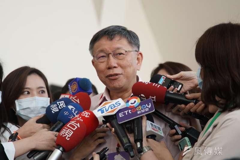 台北市長柯文哲(見圖)表示,台灣進不去RCEP,唯一出路是創新與高單價。(資料照,盧逸峰攝)