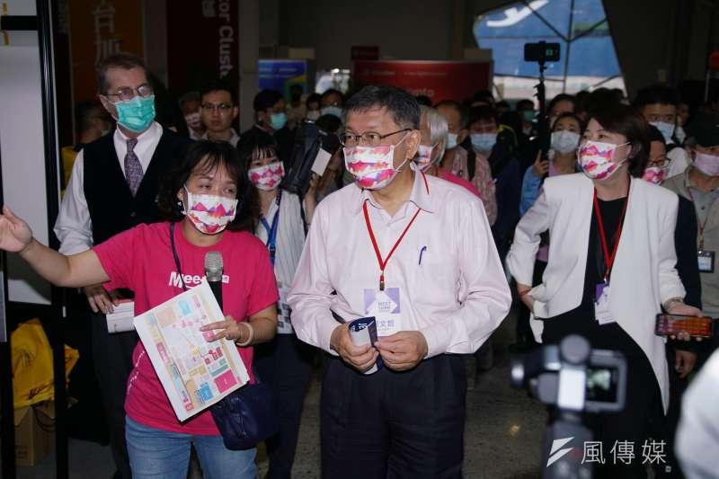 台北市長柯文哲(見圖)表示,相較其他國家在封城後2個月就做到數位轉型,台灣還沒有做得很好。(資料照,盧逸峰攝)