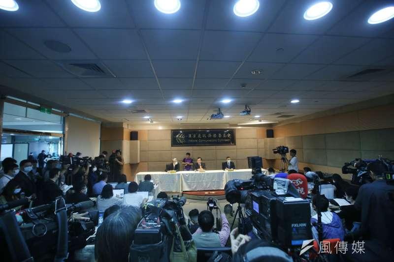 2020.11.18-國家通訊傳播委員會(NCC)主委陳耀祥18日說明NCC決議不予中天新聞台換照的原由。(柯承惠攝)