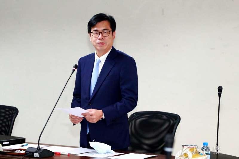 有民調指出高雄市長陳其邁(見圖)是「最不受歡迎」六都市長,全台有25%民眾不欣賞。(資料照,徐炳文攝)