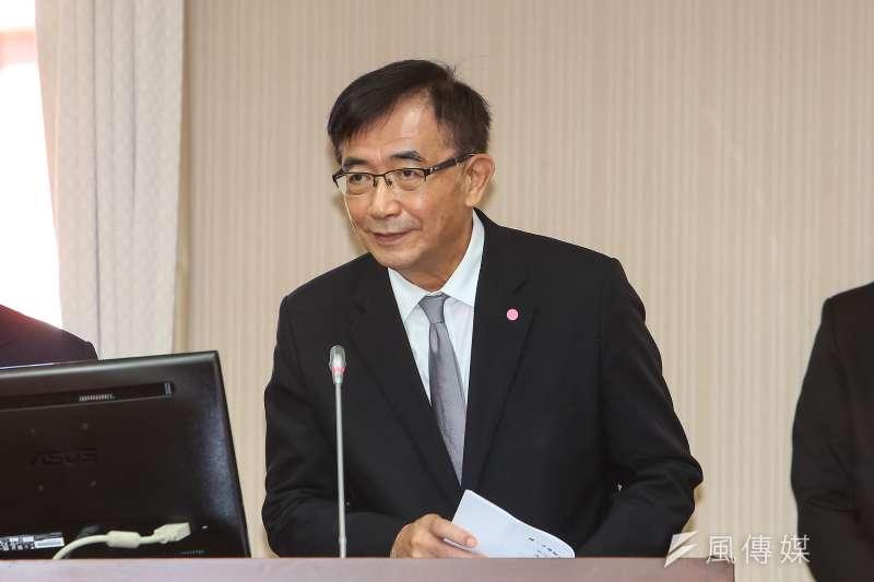 20201118-中華郵政董事長吳宏謀18日於立院交通委員會備詢。(顏麟宇攝)