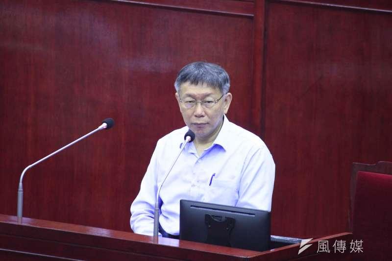 面對文化局預算暴增,台北市長柯文哲暴怒。(資料照,方炳超攝)