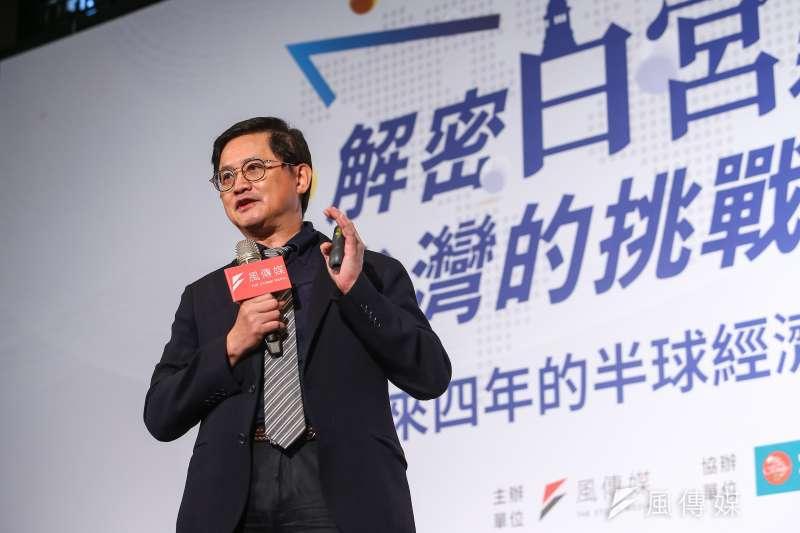 20201119-和碩集團董事長童子賢19日出席「解密白宮新主人,台灣的挑戰與可能」風傳媒高峰論壇。(顏麟宇攝)