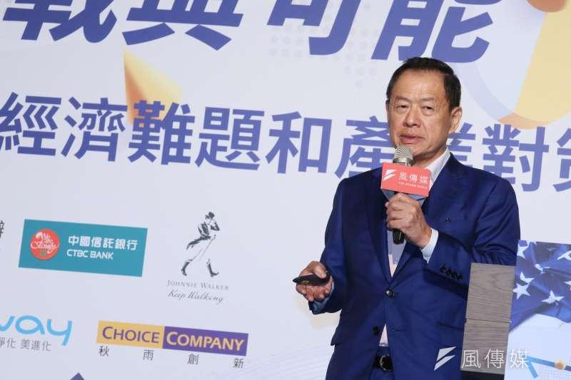 中信銀董事長利明献19日出席《風傳媒》舉辦的「解密白宮新主人,台灣的挑戰與可能-高峰論壇」。(柯承惠攝)