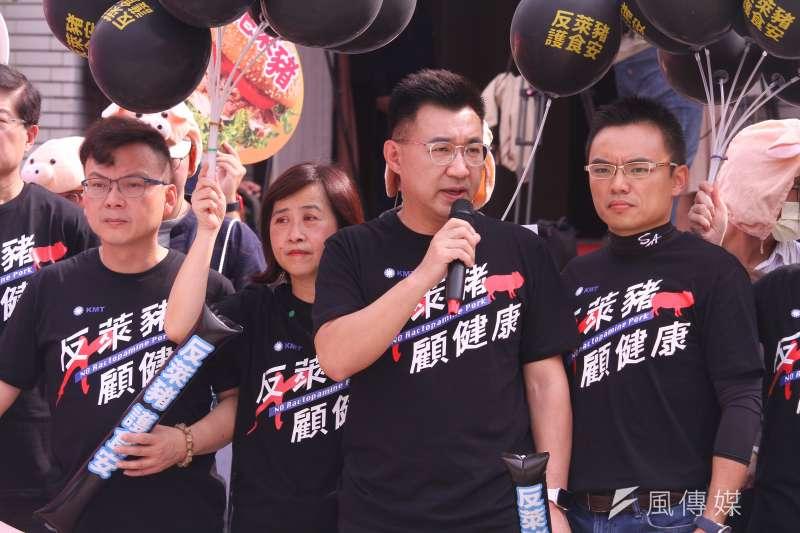 江啟臣已對國民黨下達全黨動員令,更透過網路號召反萊豬民眾自發參戰。(蔡親傑攝)