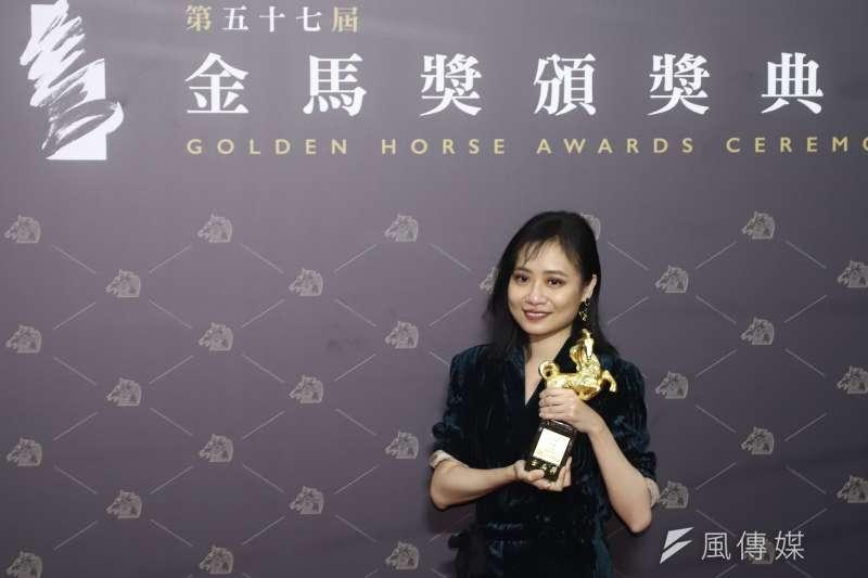 20201121-第57屆金馬獎頒獎典禮,最佳紀錄片《迷航》導演李哲昕。(陳品佑攝)