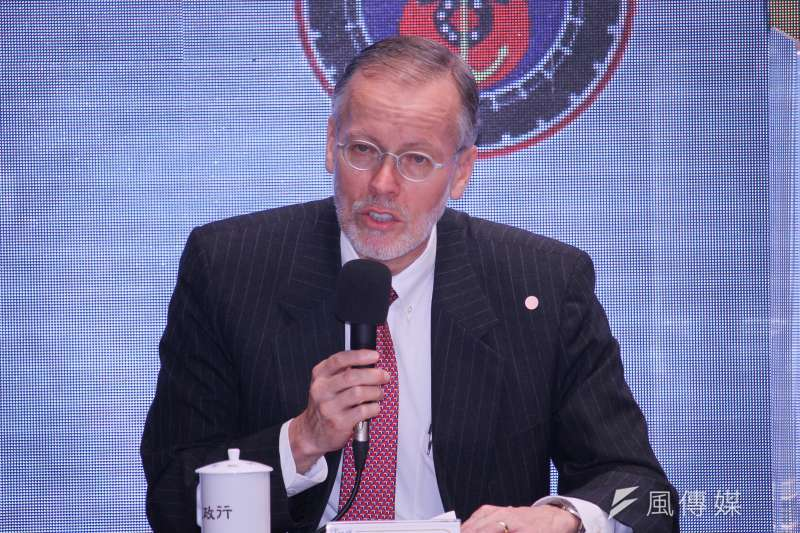 美國在台協會(AIT)處長酈英傑今(26)日說,全球供應鏈重整,台灣可扮演獨特角色。(蔡親傑攝)