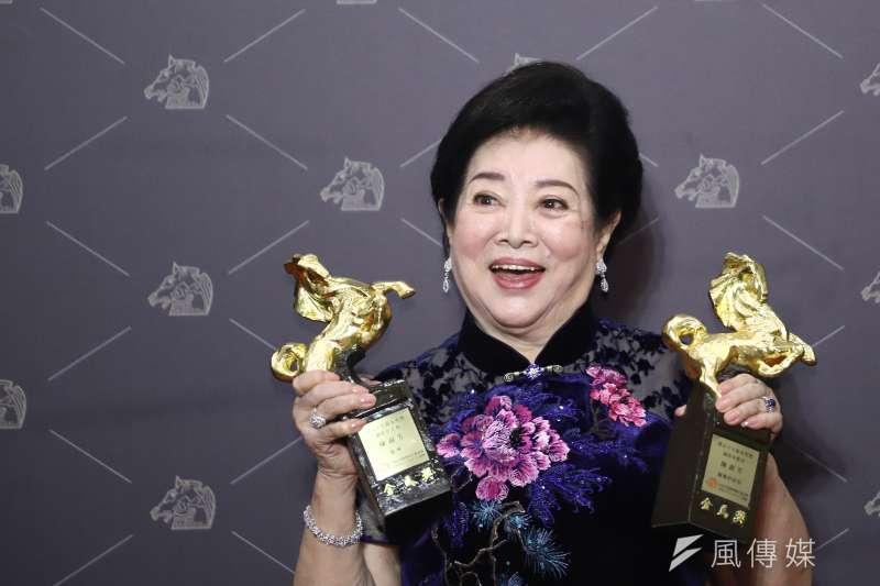 從影63年首度入圍的資深演員陳淑芳,一舉擒回影后、最佳女配角2座獎項。(陳品佑攝)