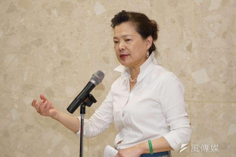 經濟部長王美花表示科學園區或工業區可在旱災期間鑿井,挨批「遠水救不了近火」。(資料照,盧逸峰攝)