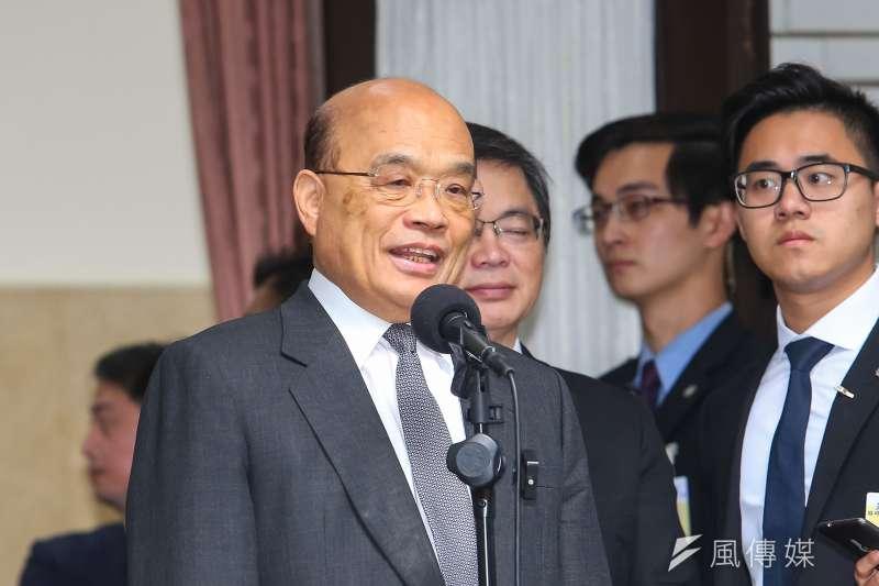 行政院長蘇貞昌下台傳聞不斷,不管藍綠陣營確實有很多人都很想看到他趕快下台。(資料照,顏麟宇攝)