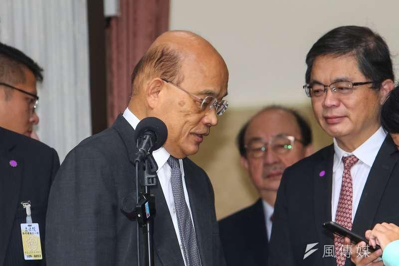 經過牛肉麵風暴後,行政院長蘇貞昌終於「讓步」,同意在朝野立院打一架後上台施政報告。(資料照片,顏麟宇攝)