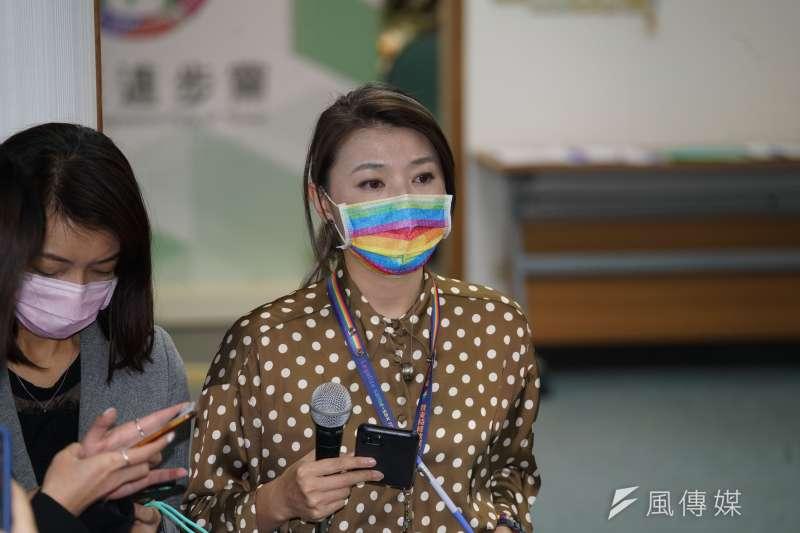 民進黨發言人顏若芳(見圖)被指與同黨立委王定宇同居。(資料照,盧逸峰攝)