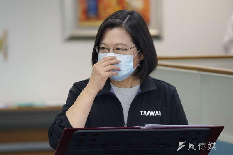 20201125-民進黨主席、總統蔡英文25日出席中常會。(盧逸峰攝)