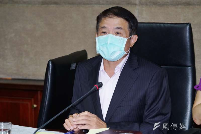 20201125-NCC副主委翁柏宗25日主持例行記者會。(盧逸峰攝)