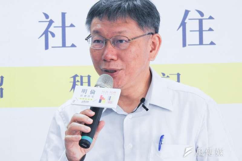 針對台中捷運綠線在試營運時,因連結器故障而暫停試營運,台北市長柯文哲表示一定會負責到底。(方炳超攝)