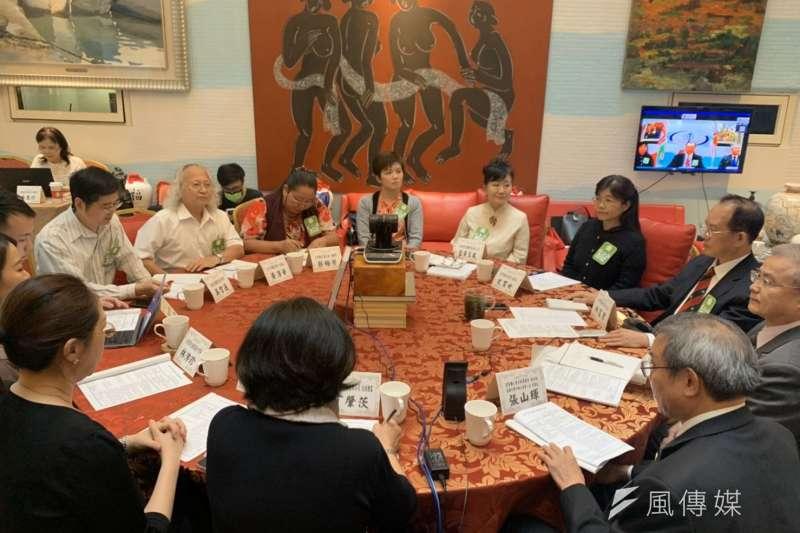 第六屆中華文化論壇-台灣分論壇,今年採視訊方式與北京同步交流。(圖/徐炳文攝)