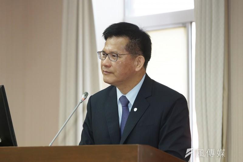 20201126-交通部長林佳龍26日於交通委員會備詢。(盧逸峰攝)