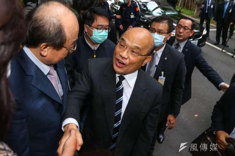 20201127-行政院長蘇貞昌27日至立院進行施政報告。(顏麟宇攝)