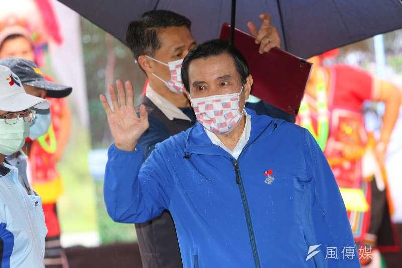 前總統馬英九28日出席「興隆公園更新成果發表暨生態復育記者會」,談及國民黨立院杯葛作為。(顏麟宇攝)
