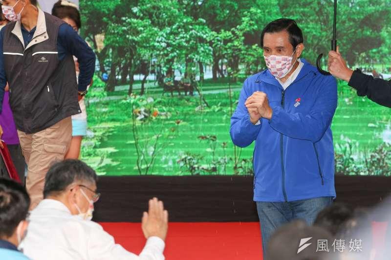 20201128-台北市長柯文哲、前總統馬英九28日出席「興隆公園更新成果發表暨生態復育記者會」。(顏麟宇攝)