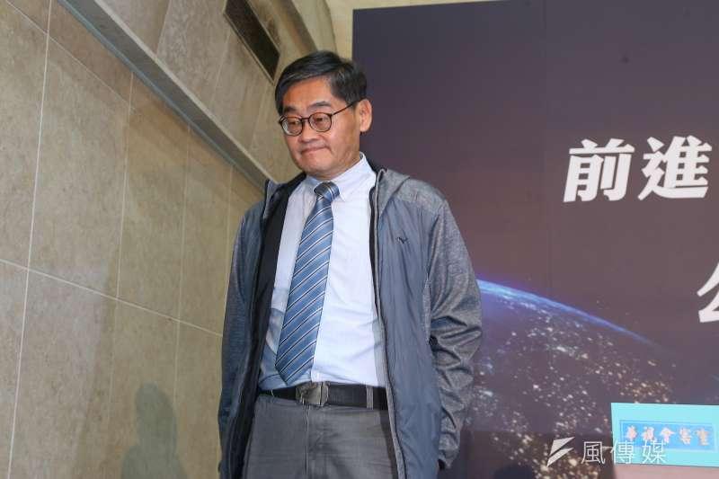 20201201-華視總經理莊豐嘉1日舉行「公廣集團申請52台記者說明會」。(顏麟宇攝)