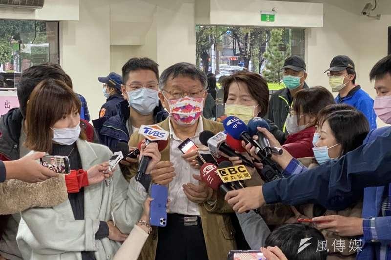 對於萊豬爭議,被問及現在是否是一黨獨大?台北市長柯文哲酸說,是「到一黨偉大的程度」。(方炳超攝)