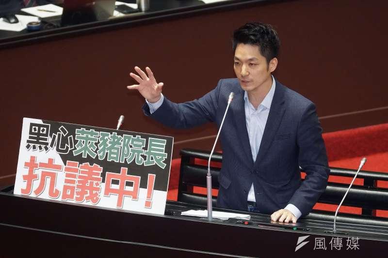 20201201-立委蔣萬安1日於立院院會質詢。(盧逸峰攝)