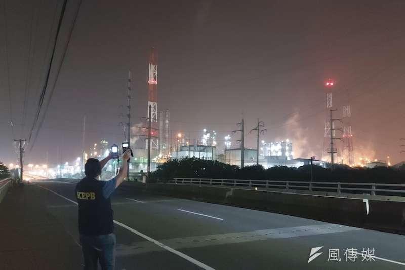 稽查人員24小時巡查工業區空污狀況。(資料照,徐炳文攝)