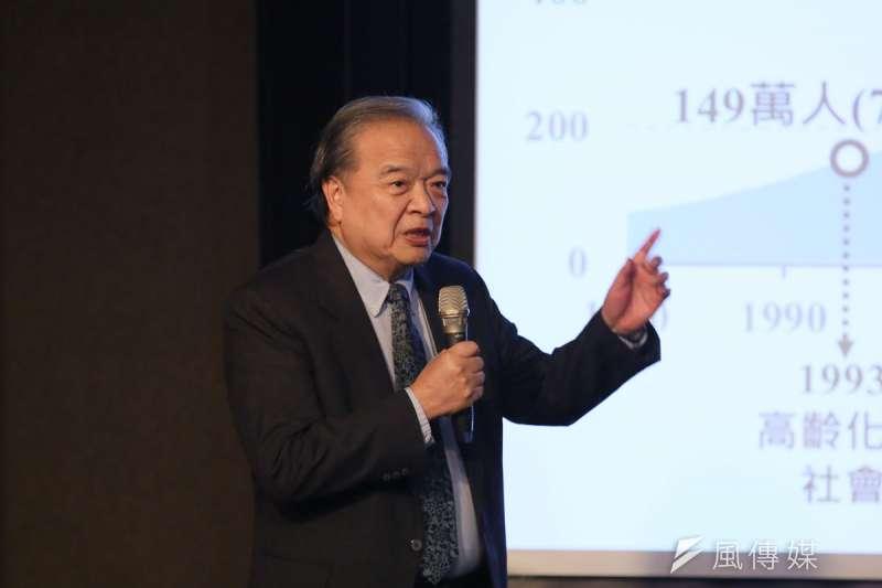 銘傳全球教育系統總校長李銓,以多元時代下的教育思維為主題發表專題演講。(柯承惠攝)