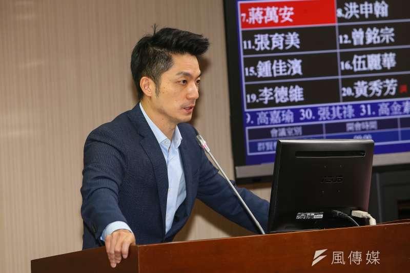 針對2022年縣市長選戰,醫師沈政男在臉書預言,若無意外,國民黨立委蔣萬安(見圖)將當選台北市長。(資料照,顏麟宇攝)