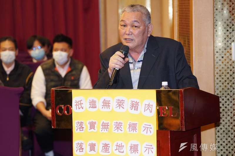 華漢冷凍食品公司負責人李春來(見圖)3日邀集約80家豬肉進口業者共同簽署「維持不進口萊豬及落實標示產地意向書」。(盧逸峰攝)