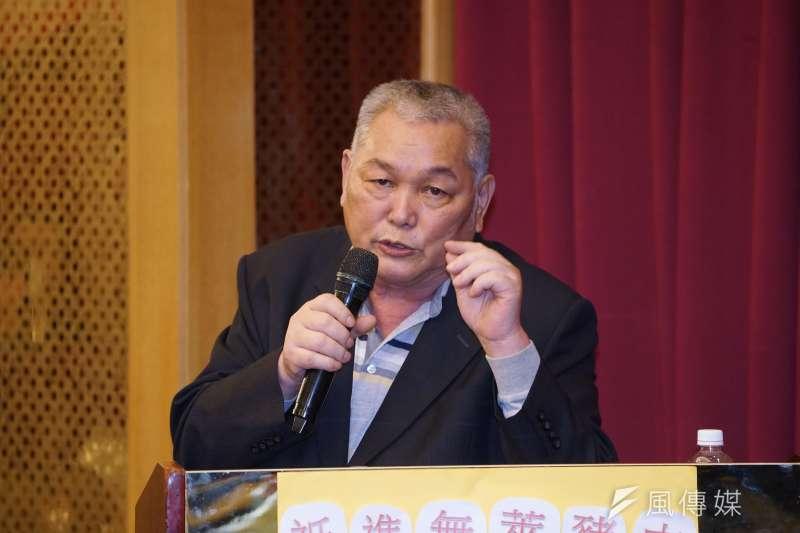 20201203-華漢冷凍食品公司負責人李春來(見圖)3日邀集約80家豬肉進口業者共同簽署「維持不進口萊豬及落實標示產地意向書」。(盧逸峰攝)