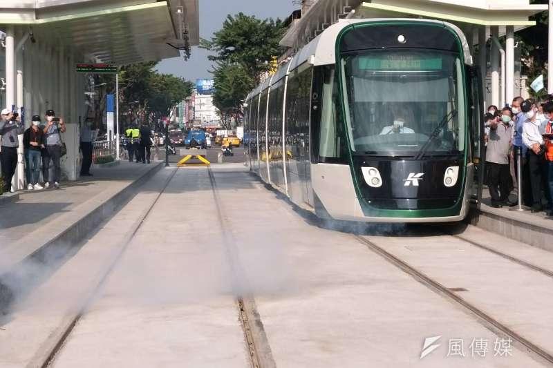 輕軌大南環路段完成初勘,通車目標邁進一大步。(圖/徐炳文攝)